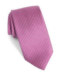 David Donahue - Multicolor Solid Silk Tie for Men - Lyst