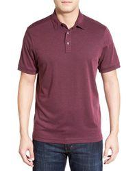 John W. Nordstrom | Purple John W. Nordstrom Regular Fit Pima Cotton Blend Polo for Men | Lyst