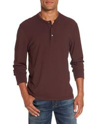 James Perse - Purple Classic High Twist Jersey Henley for Men - Lyst