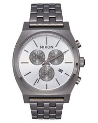 Nixon - Metallic 'the Time Teller' Chronograph Bracelet Watch - Lyst