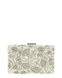Nordstrom White Tuileries Beaded Clutch