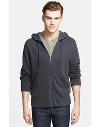 James Perse | Black Vintage Cotton Fleece Hoodie for Men | Lyst
