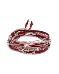 Serefina - Red Convertible Wrap Bracelet - Lyst
