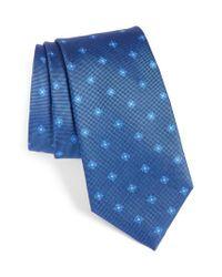 Calibrate | Blue Oxford Geometric Silk Tie for Men | Lyst