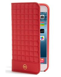 Sena - Red Iphone 7 Quilted Wallet Case - Lyst