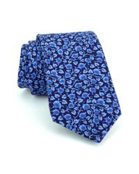 Ted Baker | Blue Floral Silk Tie for Men | Lyst