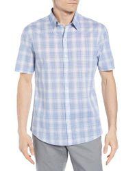 Zachary Prell - Blue Regular Fit Rogel Plaid Woven Shirt for Men - Lyst
