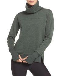 Alo Yoga - Green 'haze' Funnel Neck Sweatshirt for Men - Lyst