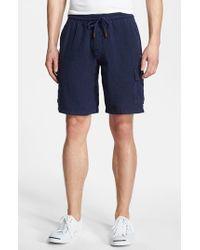 Vilebrequin | Blue Linen Bermuda Cargo Shorts for Men | Lyst