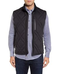 Andrew Marc - Black Eden Quilted Down Vest for Men - Lyst