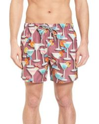 Ted Baker - Pink Morley Cocktail Print Swim Shorts for Men - Lyst