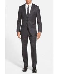 BOSS - Gray 'johnstons/lenon' Trim Fit Wool Suit for Men - Lyst