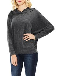 Two By Vince Camuto | Gray Dolman Sleeve Brushed Jersey Hoodie | Lyst