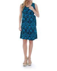 Everly Grey - Black Tania Stretch-Jersey Maternity Dress - Lyst