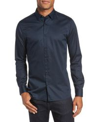 Ted Baker - Blue Marsay Modern Slim Fit Sport Shirt for Men - Lyst