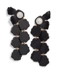 Lele Sadoughi - Black Confetti Petal Drop Earrings - Lyst