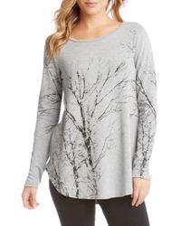 Karen Kane   Gray Kane Kane Tree Print Sweater   Lyst