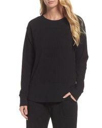 DKNY | Black Long Sleeve Sleep Shirt | Lyst