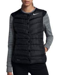 Nike - Black Aeroloft Water Repellent Running Vest - Lyst