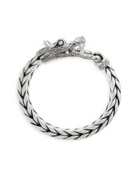 John Hardy - Metallic Legends Naga Dragon Head Bracelet for Men - Lyst