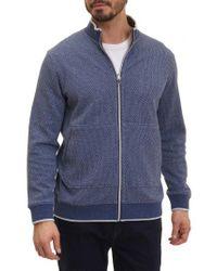 Robert Graham - Blue Jyoti Knit Zip Jacket for Men - Lyst
