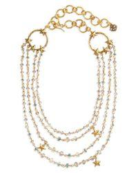 Virgins, Saints & Angels | Metallic Coronation Crystal Magdalena Multistrand Necklace | Lyst