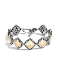 John Hardy - Metallic Classic Chain Heritage Quadrangle Bracelet - Lyst