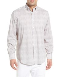 Bugatchi - Pink Classic Fit Marled Performance Sport Shirt for Men - Lyst