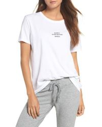 BRUNETTE the Label - White Babes Supporting Babes Tee - Lyst