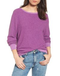 Wildfox - Purple 'baggy Beach Jumper' Pullover - Lyst