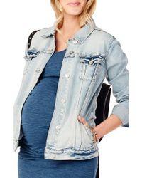 eb9246813d520 Lyst - Ingrid & Isabel Ingrid & Isabel Mama Denim Maternity Jacket ...