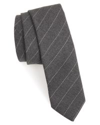 Eleventy - Gray Stripe Wool Tie for Men - Lyst