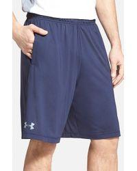 Under Armour | Blue 'raid' Heatgear Loose-fit Athletic Shorts for Men | Lyst