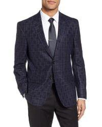 Ted Baker - Blue Jay Trim Fit Plaid Wool Sport Coat for Men - Lyst