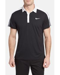 Nike - Black 'team Court' Dri-fit Tennis Polo for Men - Lyst