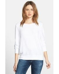 Wildfox | White 'baggy Beach Jumper' Pullover | Lyst