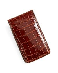 Boconi | Brown Alligator Magnetic Money Clip for Men | Lyst