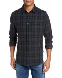 AG Jeans - Blue Colton Slim Fit Plaid Sport Shirt for Men - Lyst