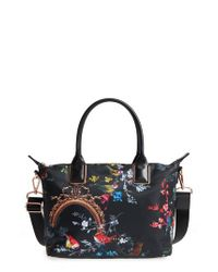 Ted Baker - Black Small Opulent Fauna Tote - Lyst