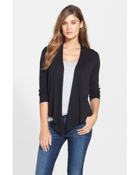 NIC+ZOE | Black Four-way Convertible Cardigan | Lyst