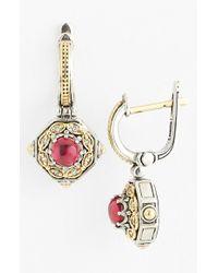 Konstantino | Metallic 'hermione' Diamond Drop Earrings | Lyst