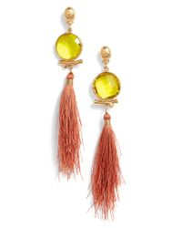Gas Bijoux - Orange Serti Bella Drop Earrings - Lyst