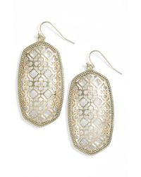 Kendra Scott - Metallic Danielle Large Openwork Statement Earrings - Lyst