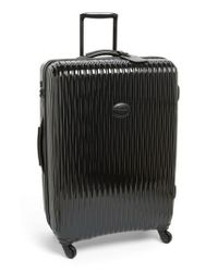 Longchamp | Black 'large Fairval' Four-wheel Hard Shell Suitcase | Lyst