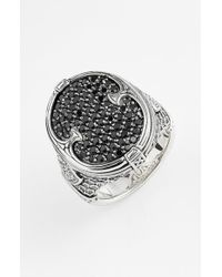 Konstantino | Metallic 'plato' Pave Etched Ring for Men | Lyst