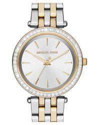 MICHAEL Michael Kors | Metallic Michael Kors 'mini Darci' Round Bracelet Watch | Lyst