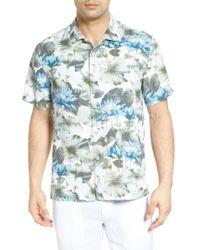 Tommy Bahama   Blue Lagoon Lotus Original Fit Silk Camp Shirt for Men   Lyst