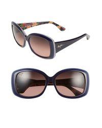 Maui Jim | Blue You Move Me 60mm Polarizedplus2 Sunglasses - Navy/ White/ Silk | Lyst