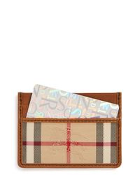 Burberry | Natural 'sandon' Horseferry Check Card Case for Men | Lyst