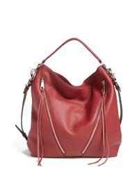 Lyst - Rebecca Minkoff  moto  Hobo Bag - Burgundy in Red 804d2928363fa